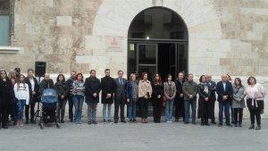 Concentració al Palau de la Generalitat