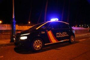 Un cotxe de Policia Nacional
