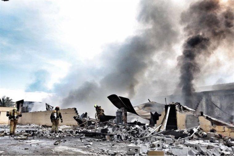 Imatge de com ha quedat la nau industrial després de l'incendi