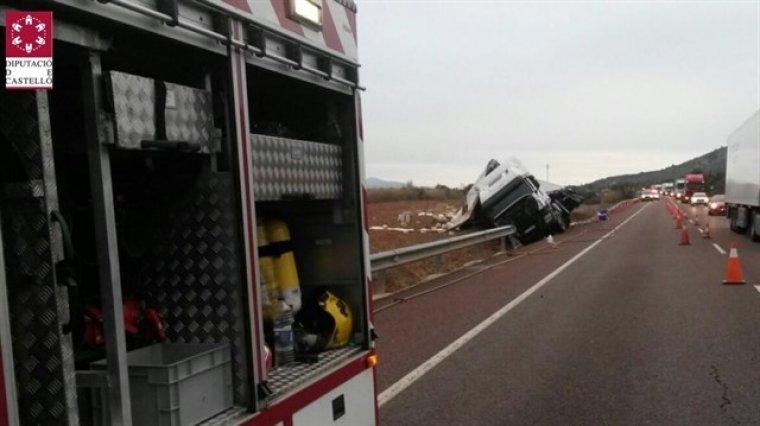 Imatge del camió a l'N-340