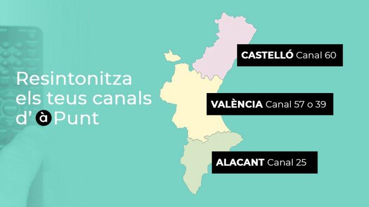 Canals corresponents a cada província