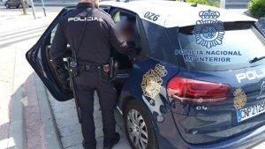 Imatge de la Policia Nacional durant la detenció
