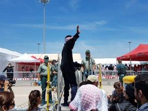 Un migrant, a l'arribada a València