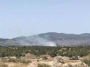Imatge del fum provocat per l'incendi