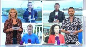 Imatge de la presentadora Carolina Ferre i del presentador Juan Nieto a l'especial per la Gota Freda