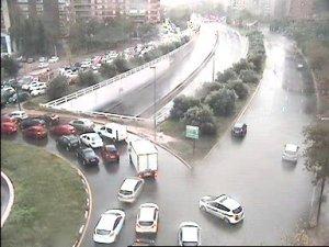 Imatge de la retenció a l'Avinguda Catalunya