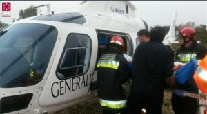 Helicòpter medicalitzat en una imatge d'arxiu