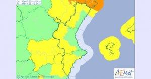 Aemet ha activat l'avís groc per vent a diverses zones de la Comunitat Valenciana