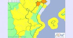 Alerta taronja a l'interior nord de Castelló per a dissabte