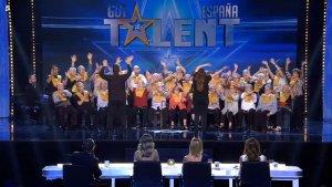 Imatge de  l'actuació de Les Veus de la Memòria a Got Talent