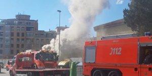 Imatge de l'incendi al col·legi Ausiàs March d'Alzira