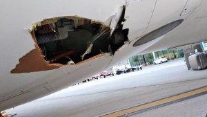 Imatge del forat a l'avió