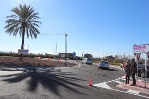 La nova redona de la carretera CV-505 entre Alzira i Alberic