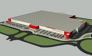 Recreació del futur centre logístic de Conforama a Llíria