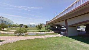 Vell llit del riu Túria en la zona del Pont de Monteolivete