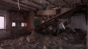 Estat del pis després de l'enfonsament