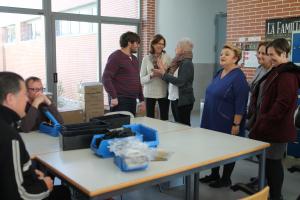 Imatge de la visita al nou centre de dia