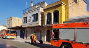 Imatge de la vivenda on s'ha produït l'incendi