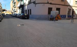 Imatge de les obres a Alzira