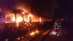 Imatge del vagó en flames a Torrent