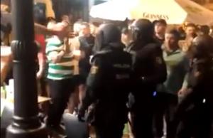Imatge dels enfrontaments a Gran Via Marqués del Túria