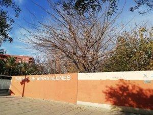 Imatge d'un dels parcs tancats per l'Ajuntament de València