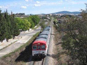 Imatge d'un dels trens de la línea C3 que va des de Requena fins Utiel