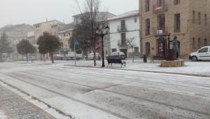La neu emblanquina municipis a Els Ports, en aquest cas Vilafranca