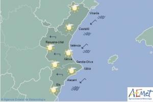 Mapa de símbols per a hui dilluns, 18 de febrer
