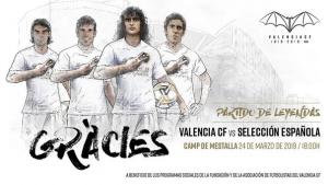 Cartell del 'partit de les llegendes' del València CF