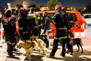 Imatge dels bombers que participaven al dispositiu