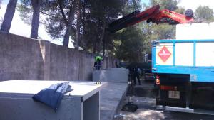 Obres d'ampliació al cementeri municipal d'Agullent
