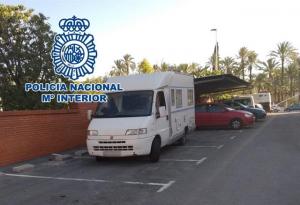 Caravana detinguda a Elx
