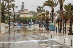 El temporal de pluja deixa més de 278 l/m2 en Xàbia