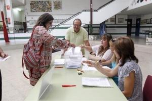 Imatge de la votació en un centre