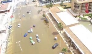 Imatge de les inundacions a Xàbia