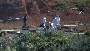 La Policia científica analitza el lloc on va ser trobat el cos de la jove