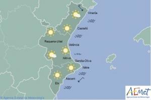 Mapa de símbols per al dissabte 27 d'abril