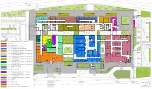 Plànol del nou hospital d'Ontinyent