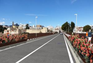 Simulació del resultat final de les obres al pont de l'Avinguda d'Alacant
