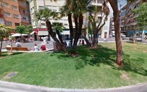 Imatge de la plaça de Pius XII en Alacant