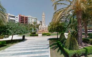 Imatge de la plaça dels Estels d'Alacant
