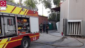 Efectius dels bombers en l'incendi
