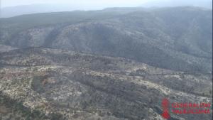 Les quasi 900 hectàrees arrassades pel foc en l'incendi més virulent d'este estiu en terres valencianes