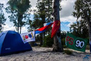 Un campament en una imatge d'arxiu