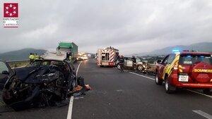 Els dos vehicles implicats en l'accident