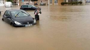 Imatge de les greus inundacions