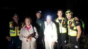 Els bombers ha resctat la parella d'excursionites extraviada en Chulilla
