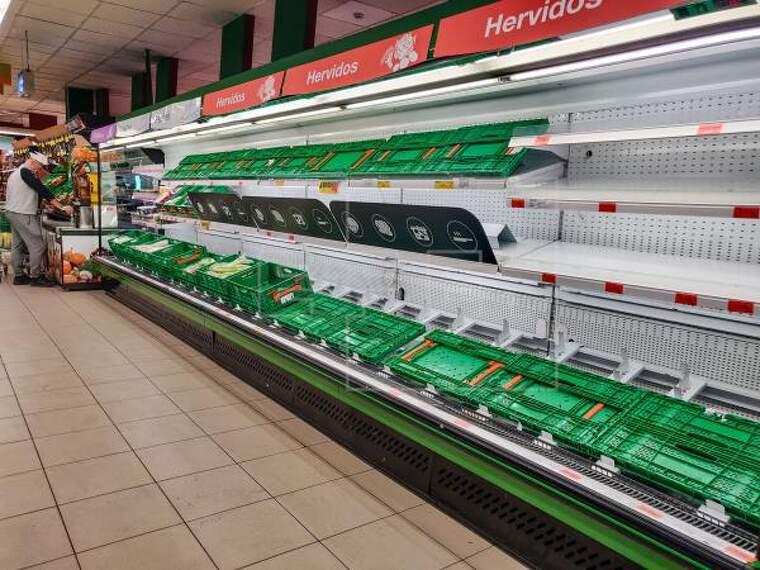 Supermercats buits pel coronavirus