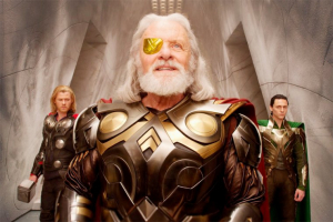 Actor Anthony Hopkins plays Odin in the Marvel movie saga